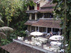 View of bridges restaurant, taken from Champuan bridge