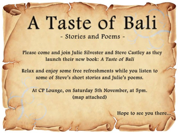 A Taste of Bali - Book Launch