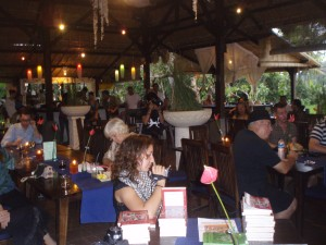 Guests at our book launch at CP's, Ubud on 5 Nov 2011