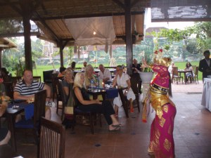 Legong dancer at CP for our book launch