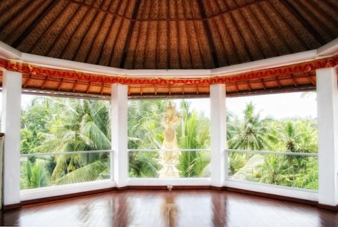 Sandeh's White Lotus roof top Meditation octagon