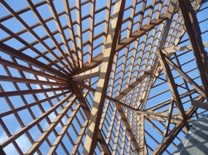 Roof frame from inside looking up