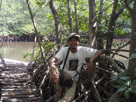 Yaniq in the mangroves