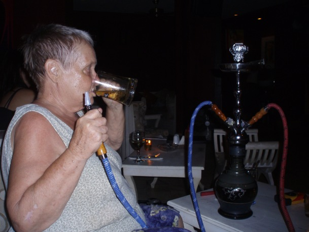 The coolest beer drinking, shisha smoking grandmother in town