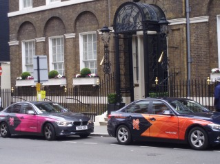 Official Mercedes transport for the Olympics - in Mayfair (just minutes from the Indonesian Embassy)
