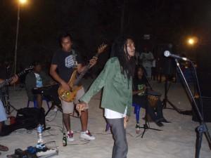 Fredi Marley at Padang Padang Beach Cafe