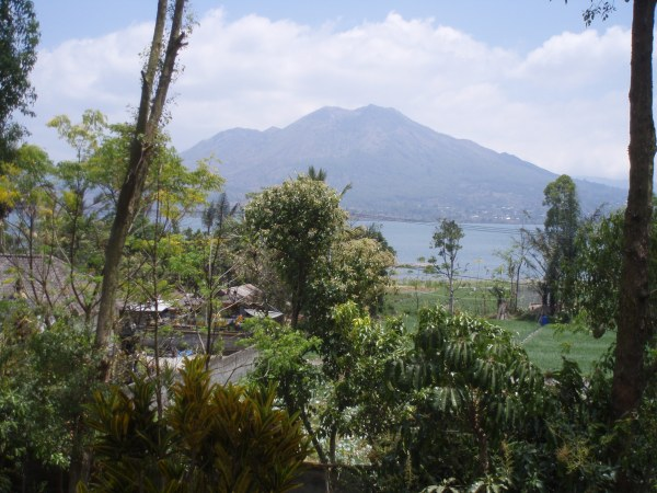 Mount Batur - looming large on the far side of the lake