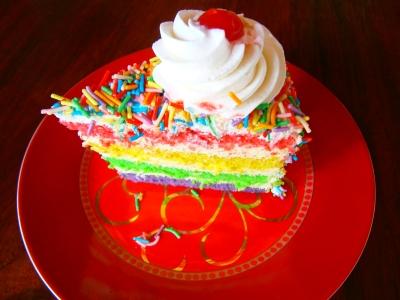 Colour co-ordinated cake