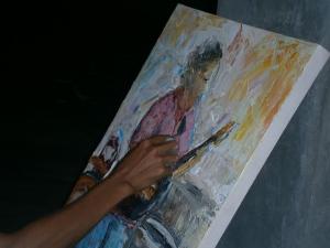 Jakob on canvass