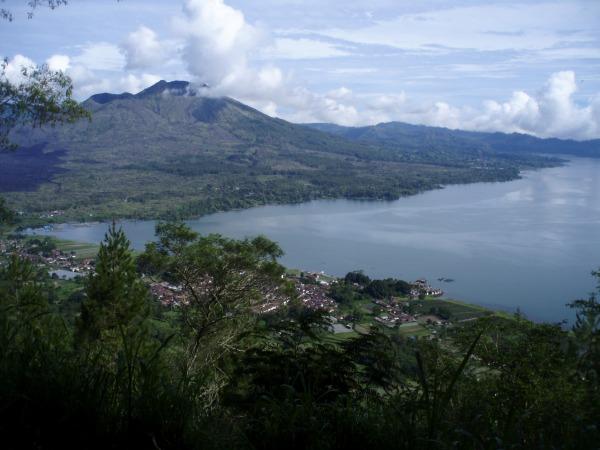 Mount Batur rising