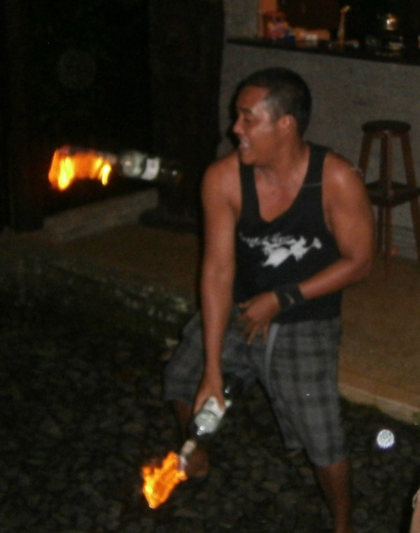 Juggling fire