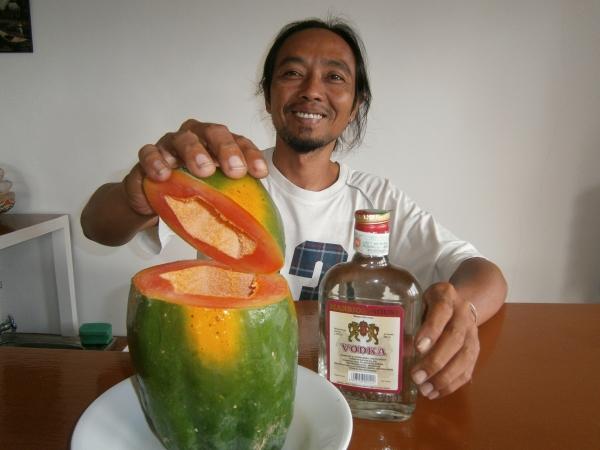 The making of Papaya Vodka