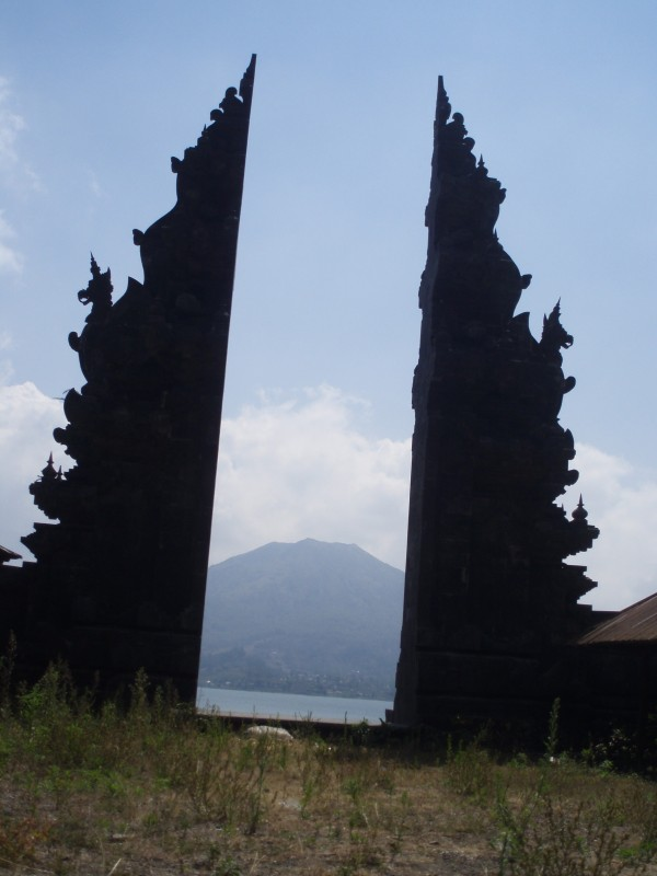 Mount Batur - seen through temple gates