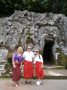 Vince, Christine and me at Goa Gajah