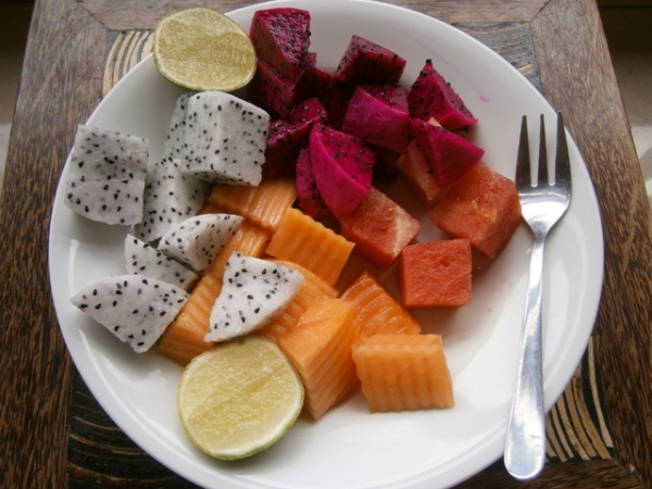 Lemon to sprinkle over tropical fruit platters