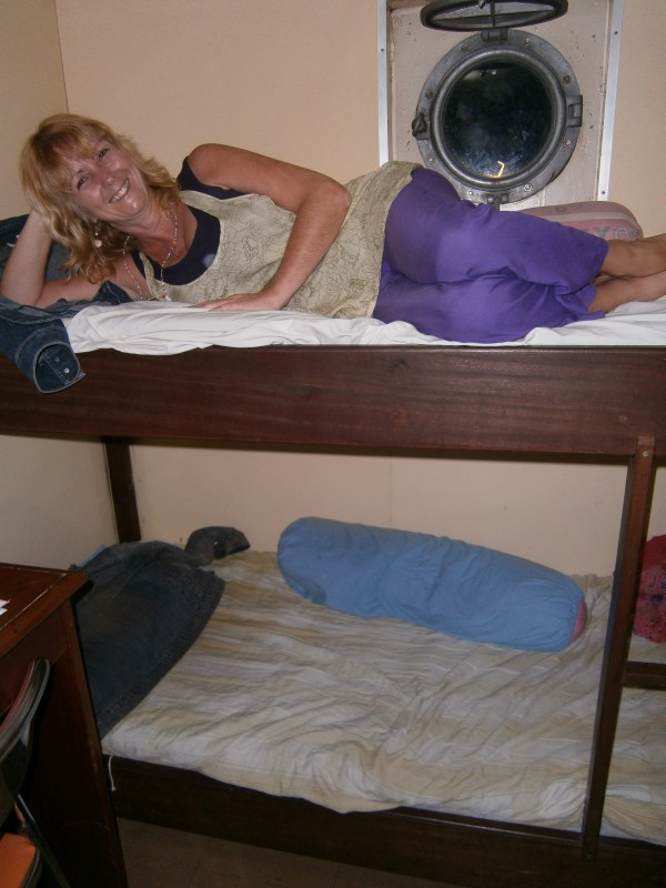I had the top bunk next to the porthole