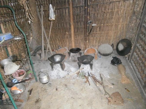 Kitchen inside flimsy walls