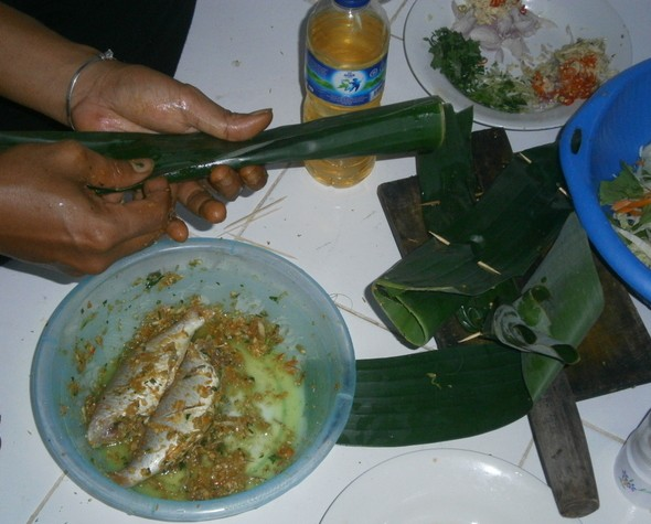 The making of pepes ikan