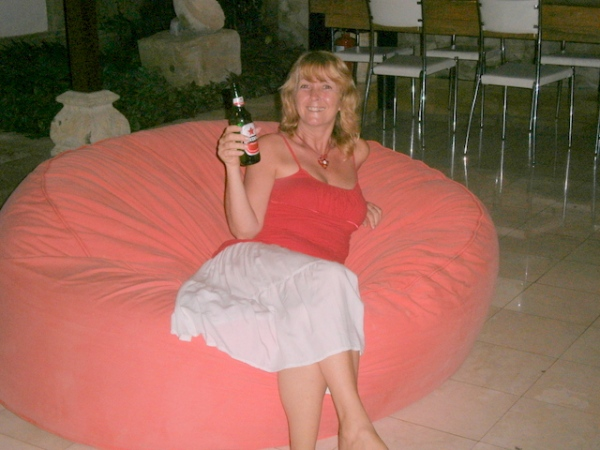 Me on a bean bag