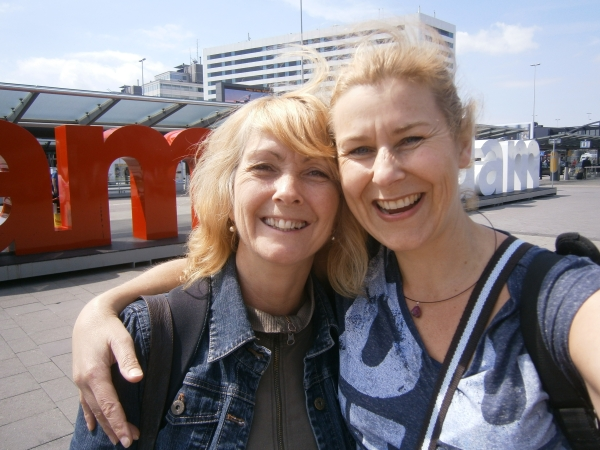 Nancy and me in Amsterdam