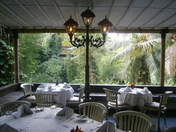 Inside the romantic bridges restaurant