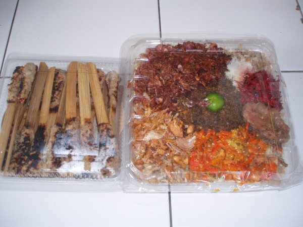 Different kinds of lawar and sate