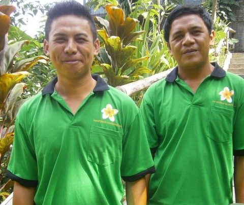 Gede and Ketut - with a jepun on their T Shirts