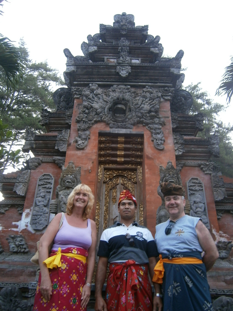 Outside temple gates