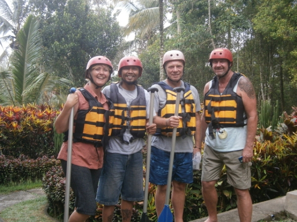 All geared up to go rafting