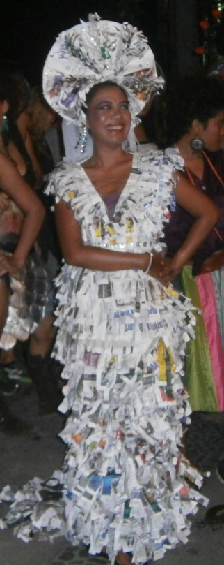 Wedding dress made out of the Bali Advertiser