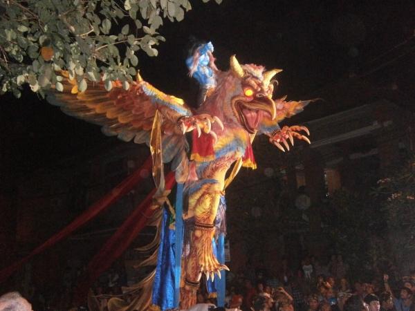 Garuda carrying Vishnu
