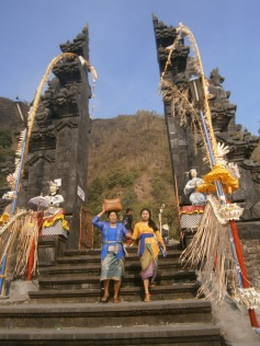 Ketut and Martini leaving the temple gates