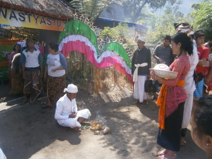 A ceremony before entering
