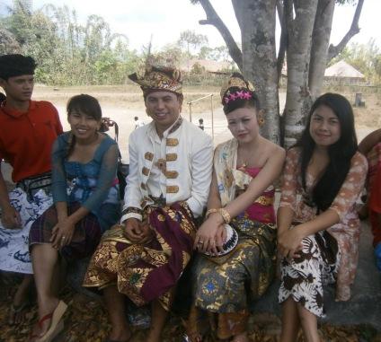 Outside the temple at Abang Songan