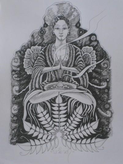 'Meditating' by Yaniq